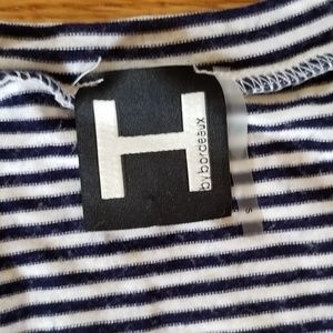 H by bordeaux Tops - Black and White Striped T-Shirt